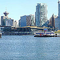 Vancouver BC waterfront skyline panorama. Poster by Gino Rigucci
