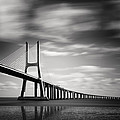 Vasco da Gama Bridge III Poster by Nina Papiorek