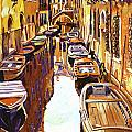 Venice Canal Print by David Lloyd Glover