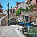 Venice Piazzetta and bridge Poster by ITALIAN ART