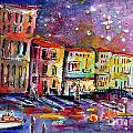 Venice Reflections Celebrating Italy Painting Print by Ginette Fine Art LLC Ginette Callaway