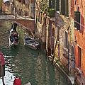Venice ride with gondola Print by Heiko Koehrer-Wagner