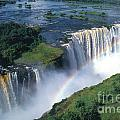 Victoria Falls Rainbow Poster by Sandra Bronstein