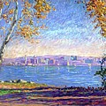 View from Presque Isle Print by Michael Camp