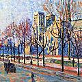 View from the Quay Montebello Print by Maximilien Luce