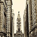 View of Cityhall from Broad Street in Philadelphia Poster by Bill Cannon