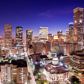 View Of Cityscape Print by jld3 Photography