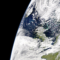View Of Earth From Space Showing Print by Stocktrek Images