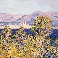 View of the Cap dAntibes with the Mistral Blowing Poster by Claude Monet