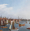 View of the River Thames with St Paul's and Old London Bridge   Poster by William James