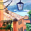 View to Lake Como Poster by Linda Scott