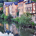 Village Reflections in Luxembourg I Poster by Greg Matchick