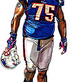 Vince Wilfork Print by Dave Olsen