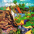 Vincent Van Gogh Houses at Auvers  Poster by PG REPRODUCTIONS