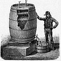 Vinegar Production, 19th Century Print by Cci Archives