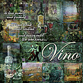 Vino Print by Evie Cook