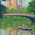 Vintage Central Park Print by Mitch Frey