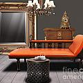 vintage furnitures Print by ATIKETTA SANGASAENG