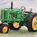 Vintage John Deere Tractor Poster by Toni Grote