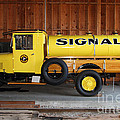 Vintage Signal Gasoline Truck . 7D12935 Print by Wingsdomain Art and Photography