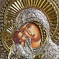 Virgin Mary with Child Jesus Greek Icon Poster by Jake Hartz
