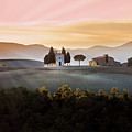 Vitaleta Chapel At Sunset Poster by Jova photo