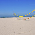 Volleyball Net On Beach Poster by leuntje
