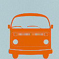 VW Bus Orange Print by Naxart Studio