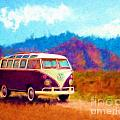 VW Van Classic Poster by Marilyn Sholin