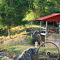 Wagon Shed Print by Suzanne Gaff