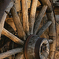 Wagon Wheel On Covered Wagon At Bar 10 Print by Todd Gipstein