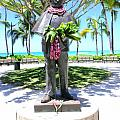 Waikiki Statue - Prince Kuhio Print by Mary Deal