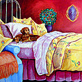 Waiting for Mom - Dachshund Print by Lyn Cook