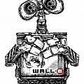 WALL-E Print by James Sayer