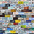 Wall of American License Plates Poster by Christine Till