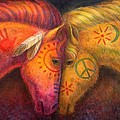 War Horse and Peace Horse Print by Sue Halstenberg