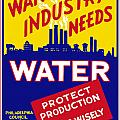 War Industry Needs Water Print by War Is Hell Store