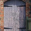 Warehouse Wooden Door Print by Thomas Marchessault