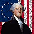 Washington and The American Flag Print by War Is Hell Store