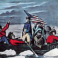 Washington Crossing The Delaware, 1776 Poster by Photo Researchers