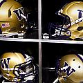 Washington Huskies Football Helmets  Print by Replay Photos