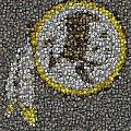 Washington Redskins Coins Mosaic Poster by Paul Van Scott