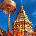 Wat Phrathat Doi Suthep Poster by Adrian Evans