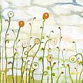Watching the Clouds Go By No 2 Poster by Jennifer Lommers