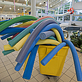 Water Noodles at a Public Swimming Pool Print by Marlene Ford