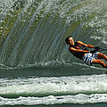 Water Skiing Magic of Water 1 Poster by Bob Christopher