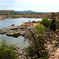 Watson lake 2 Print by Julie Lueders