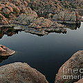 Watson Lake at Sunset Print by Dave Dilli