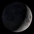 Waxing Crescent Moon Print by Stocktrek Images