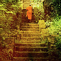 Way to Buddha's Temple Print by Justyna Lorenc